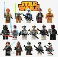 Building Blocks Super Heroes Avengers Star Wars Action figures Minifigures Han Solo Yu Da Capain Rex Clone Trooper Commander Toy