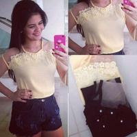 Autumn New Women Body  Blouse Slim Top Shirts White Lace Sexy Blusas^&