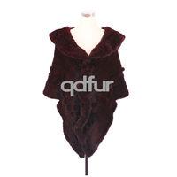 Luxurious Winter Women's Natural Mink Ponchos Shawl Wrap Scarf Lady Ruffles Wedding Bridal Wraps Coat Outerwear QD30487