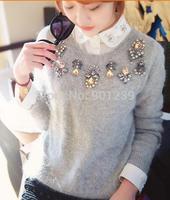 Fashion women star beading  diamond gemstone  pullovers long sleeve   sweater