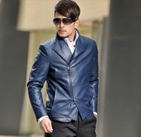 2014 Brand Men leather jacket 100% High qulaity PU leather Men's leather coat motorcycle leather jackets Jaqueta Couro