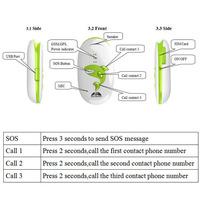 GPS302 Anti-lost Quad Band GPS/GPRS/GSM Pet/Children/Elder/Personal Tracker Tracking SOS#180194