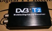 Free shipping Car DVB T2 120km/h Double Antenna H.264 MPEG4 Mobile Digital TV Box External USB DVB-T2 Car TV Receiver newest