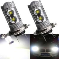 2 x 50W H7 LED Fog Driving Daytime Light Lamp Bulb HeadLight DRL