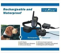 Free shipping Rechargeable And Waterproof 300 Meters Remote Electric Shock Anti-bark Pet Dog Training Collar With LCD Display