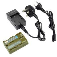 DSTE BP-511 Li-ion Battery Pack and UK & EU Plug Charger for Canon EOS 10D, 20D, 300D, 30D, 40D, 50D, 5D, D30, D60