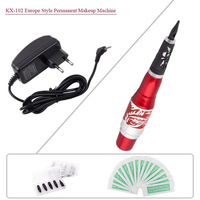 New KX-102 Top Professional Permanent Makeup Red Dragon Machine Pen Power Supply for Eyebrow Lips Tattoo Free Shipping