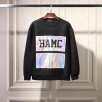 2014 winter men brand sports sweatshirt original design high quality waterproof shine hamc printed patchwork neoprene top Y05513