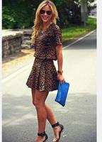 casual women summer vestidos femininos tropical roupas femininas 2015 clothing longos woman clothes dresses leopard dress