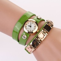 2014 New Stylish Rhinestone Synthetic Leather Watch Sparkling Quartz Wrist Watch Woman Dress Watch Square drill Hot sale XR389