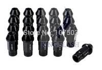 2014 Hot Sales P1.25 50mm Black Anti-theft Security Car Automobile Repacking Wheel Aluminum Lug Nuts Black 5920