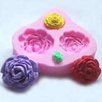 DIY Sugarcraft Silicone Mold Tool Rose Flower Cake Fondant Soap Chocolate Mould