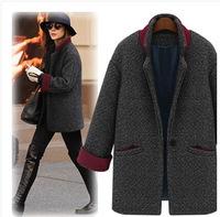 Free Shipping ! 2014 Winter New European and American Women Fashion style Coat,Female Slim Euro Fashion Nylon Outwear