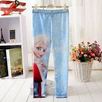 Retail baby girls Frozen Leggings/kids  Anna Elsa leggings Printing Leggings/Children Pencil Pant trousers,4-11Y