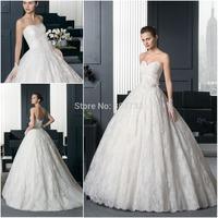 Vestido de Novia CY3609 Lace Sweetheart Ball Gown Wedding Dresses 2015 New Design