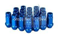 2014 Hot Sales P1.5 50mm Automobile Aluminum WHEEL RACING Lug Nuts Anti-theft Blue 5918