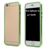 For iPhone 6 & 6 Plus Bumper Transparent the side of Protaction PC+TPU Bumper case for iphone 6 4.7 & 6 Plus 5.5 inch 50 pcs/lot