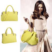 High Street Luxurious Casual Crocodile Pattern Handbag women Candy Color PU Leather Shoulder Bag Tote bolsas Top Quality