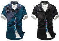 2014 New Hot Man Korean Style Fashion Men's Slim Fit Casual Summer Short Sleeve Shirt Cool