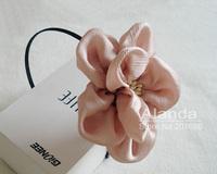 Retail!!! Fashion plicated chiffon flower hair clip handcrafted rosette flower headband AJB-0096 free shipping 5 colors