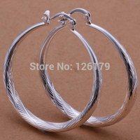 Wholesale 925 Silver Earring Fashion Simple Silver Jewelry Classic Big Hoop Earrings