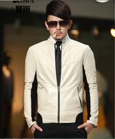 Autumn New Men's jaqueta couro fashion Leisure leather jacke short slim leather jacket coat Men Brand Motorcycle jackets