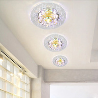 Modern led Ceiling Lights for living room 3W LED lamp Crystal LED chandeliers and pendants light Fixtures Hallway Aisle