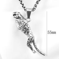 2015 gift Western Brand Classic Men's 316L Stainless Steel Cast leopard Pendants For men