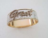 Gold GP Fashion women Great Letter Design Bangle Bracelet SY016 Free shipping