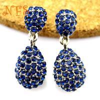 European and American trade jewelry wholesale fashion fine metal flashing gem earrings