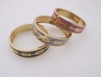 Gold GP Fashion Women Glitter Powder Bangle Cuff Bracelet SY013 Free Gift Hot Sale