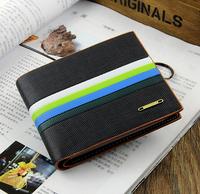 2014 New fashion Color bar men's wallet short and long design mens wallets card holder ZX023