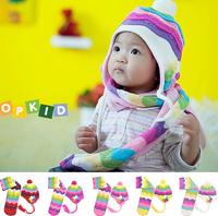 Promotion 5sets/lot baby winter woolen hats warm cap kid earmuff headwear free shipping