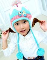 5pcs/lot Fashion winter baby warm earmuff hats wool caps outdoor ski hat free shipping