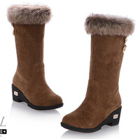 Free shipping 2014 new winter boots in tube slope with frosted women boots.
