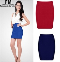 High Quality Knitted Bodycon High Waist Skirts Womens New 2014 Fashion Candy Color Pencil Bandage Skirt Slim Sexy Skirt SS14K009
