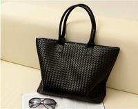 Free shipping, 2014 women weave pattern handbag leather handbag shoulder totels famous designer brand women's series