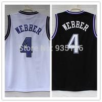 4# Chris Webber Jersey New Material Rev 30 Embroidery Sacramento Basketball jerseys size S-XXL Retail/Wholesale Free Shipping