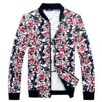 Hot Selling Winter&Autumn jacket men Casual Overcoat Outwear men's quilted jacket flower jacket plus size outerwear blue jasmine