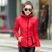 Free Shipping 2014 New Womens Winter Warm 5 Candy Colors Thin Slim Down Coat Jacket Overcoat Parka Hoody winter jacket women