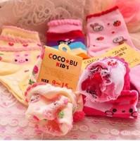 12pcs=6pair/lot New Cute Baby Socks Kid  Slip-resistant Cartoon Floor Socks Girls Socks Wholesale Free Shipping #0981