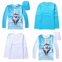 2014 New Design Costume shirt Kids Olaf t-shirts Baby Printed tshirts Baby Boys frozen T-shirt 100% Cotton Cartoon Boy Clothing