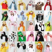 Adults Winter Flannel Pajamas All In One Pyjama Suits Cosplay Costumes Adult Garment Cute Cartoon Animal Onesies Pajamas S-XL