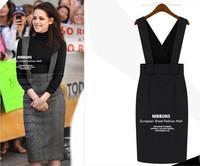 2014 New Europe Fashion Lady Elegant Winter Dress Long Sleeve Cotton High Quality Warm Straps Casual Dress Maxi DressGowns