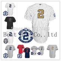 stithed cheap 2014 Men's Baseball Jersey NY New York #2 Derek Jeter w/Commemorative Retirement Patch,Embroidery Logos shirt