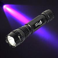Wholesale 10pcs UV Purple 5W Ultrafire CREE LED WF-501B Light 18650 Flashlight Torch Lamp 1 Mode free shipping