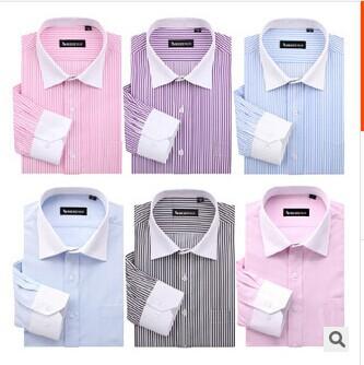 product New Harmonia collar men's long-sleeved white shirt business shirt