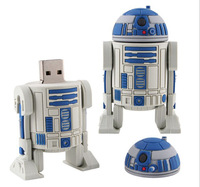 64GB USB Flash Drive Pen Drive Star Wars R2-D2 Robot to Worldwide Pendrive Flash Drive Card Memory Stick Drive free shipping