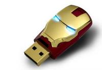 1pcs New For Avengers Iron Man LED pen drive usb flash drive 64GB pendrive memory card pen drives free shipping