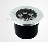 AC220V 6X1W 6W led underground light underwater light led outdoor floor light  dia.150mm Round waterproof IP65 DHL free shipping